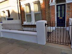 Landscape and landscaper Garden Design and Build in Clapham Battersea and throughout London Door Ideas, House Front, Garden Landscaping, Garden Design, Mosaic, Garage Doors, Deck, Landscape, Building