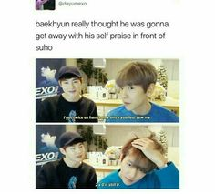 Suho being savage