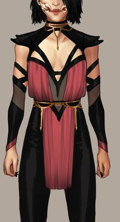 Love the top shoulder pads that's it Female Character Design, Character Design Inspiration, Character Art, Akali League Of Legends, Mortal Kombat Art, Mileena, Hero Costumes, Drawing Clothes, Fashion Art