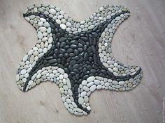 Ceramic Mosaic Tile, Pebble Mosaic, Mosaic Diy, Mosaic Garden, Stone Mosaic, Pebble Art, Garden Art, Pebble Stone, Sea Art
