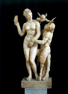 Aphrodite, Pan and Eros, late 2nd century B.C.