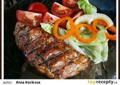 Marináda na maso na gril,nebo pánev recept - TopRecepty.cz Pesto, Sausage, Steak, Grilling, Pork, Beef, Recipes, Kale Stir Fry, Meat
