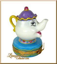 Retired Walt Disney Beauty & the Beast Mrs. Potts Limoges box www.LimogesBoxCollector.com
