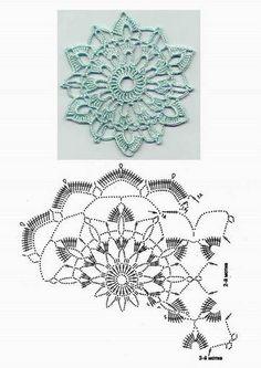 Floral motif  . . . .   ღTrish W ~ http://www.pinterest.com/trishw/  . . . .   #crochet