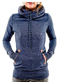 womens-funnel-neck-hoodie-lightweight-pullover-hooded-sweatshirts