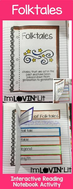 Folktales Foldable, Folktales Interactive Notebook Activity by Lovin' Lit from the ALL NEW Interactive Reading Literature Notebooks, Part 2