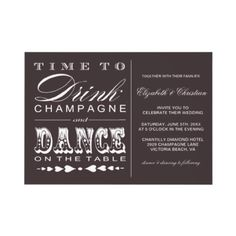 SAVE THE DATE idea?!  Champagne Theater Bill Style Wedding Invitation by chocolattedesigns