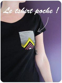 Mercredi c'est tuto #5 : Le t-shirt poche | Tata Cousette