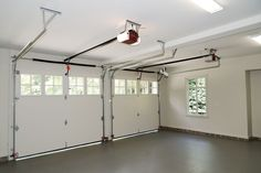 new style two door garage. see inside