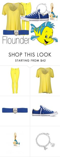 """Flounder~ DisneyBound"" by basic-disney ❤ liked on Polyvore featuring rag & bone, American Vintage, Dsquared2, Converse and Disney Couture"