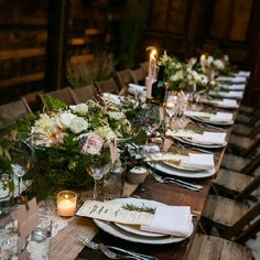 A wedding in the heart of Brooklyn with the most amazing rustic urban style - bistro lights, fresh greenery, comfort foods!
