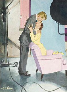 Vintage Romance, Vintage Art, Vintage Couples, Portraits, Cinema Posters, Graphic Illustration, Retro Illustrations, Couple Drawings, Pulp Art