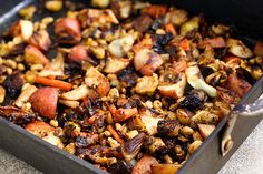 Roasted Winter Vegetables with White Beans {Gluten-free and Vegan}