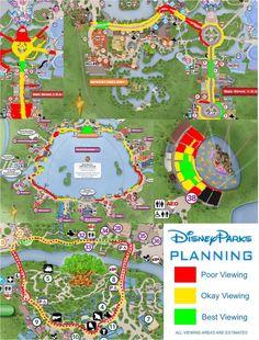Parade & Firework Viewing at Walt Disney World Parade & Firework Viewing at Walt Disney World – Disney Parks Planning Voyage Disney World, Viaje A Disney World, Disney World Florida, Disney World Trip, Disney Parks, Disney Worlds, Florida Vacation, Disney World Facts, Disney World Guide