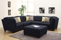 Great Most Comfortable Sectional Sofa 73 For Contemporary Sofa Inspiration with Most Comfortable Sectional Sofa Blue Living Room Sets, Cheap Living Room Sets, Living Room Sofa, Bedroom Sofa, Dining Rooms, Living Area, Modular Sectional Sofa, Sofa Couch, Blue Sectional