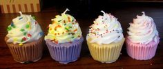 Check out Very Cute Cupcake Birthday Candles that look good enough to eat on livingtreecandles Homemade Candles, Diy Candles, Soy Wax Candles, Candle Decorations, Scented Candles, Cute Cupcakes, Birthday Cupcakes, Cupcake Candle, Cupcake Cupcake
