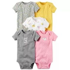 Carters Baby Girls Too Cute Bodysuits Carters Baby Clothes, Carters Baby Girl, Cute Baby Clothes, Baby Boy, Baby Outfits, Toddler Outfits, Kids Outfits, Cute Bodysuits, Baby Knitting Patterns