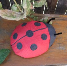 Large Lady Bug Surprise Ball  20 prizes inside by WatermelonParty, $20.00