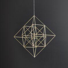 Diamond Himmeli moderne suspendus mobiles / géométrique Art Sculpture / / décoration maison minimaliste