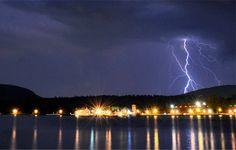 :   Lightning storm over Lake George  Photo Credit: Luke Dow