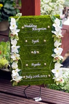 Welcome Board Bildsuchergebnisse Wedding Reception Backdrop, Garden Wedding Decorations, Reception Decorations, Wedding Themes, Event Decor, Wedding Signs, Wedding Table, Diy Wedding, Wedding Flowers