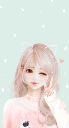 image discovered by Daria Russ.) your own images and videos on We Heart It Anime Korea, Korean Anime, Korean Art, Kawaii Anime, Anime Chibi, Cute Cartoon Girl, Anime Girl Cute, Art Anime, Anime Art Girl