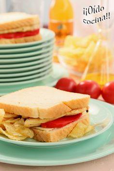 ¡¡Oído cocina!!: Sándwich de queso, pimiento morrón y pollo