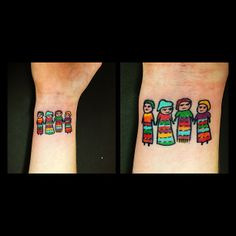 Tilly Dee @tillydee | wow, I really should get little worry dolls tattooed