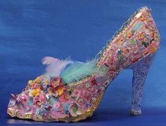 Mosaic shoe by Candace Bahouth