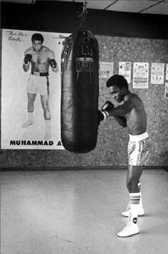 Sugar Ray Leonard ~ check out the poster in the background