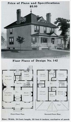 Radfor Homes plan no. 142, 1903 Colonial Revival plan