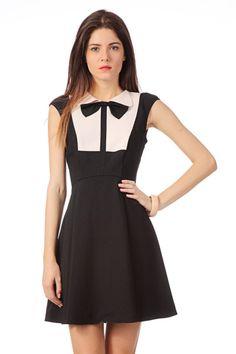 ted-baker-black-trapezium-dress-