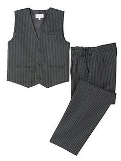 Spring Notion Little Boys' 2 Piece Pinstripe Vest Set >>> For more information, visit