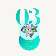 2016 Calendar - MARCH - ipad