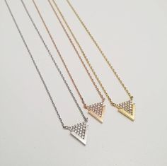 Pave Vertex Necklace