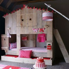 Sleep well little girls Kidsroom, Girls Bedroom, Bunk Beds, Ladder Decor, Toddler Bed, Nursery, Inspiration, Furniture, Quartos