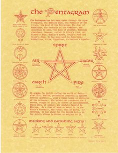 A small amount of history on the PENTAGRAM.                                                                                                                                                     More