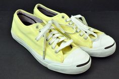 Jack Purcell Converse Mens Size 8.5 Womens Size 10 Yellow Sneakers Shoes Low Top in Clothing, Shoes & Accessories, Men's Shoes, Athletic | eBay