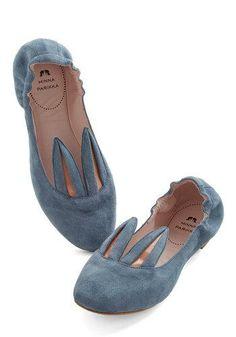 Little Bunny Shoe Shoe Flat in Blue Grey @Azuree Wiitala