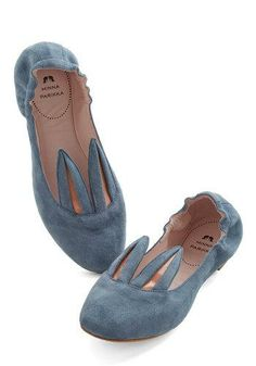 Little Bunny Shoe Shoe Flat in Blue Grey