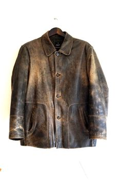 men's leather jacket Vintage leather jacket Men's by vintagdesign