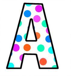 ABC's~Polka Dots modern beach house decor - Modern Decoration Polka Dot Letters, Bubble Letters, Polka Dots, Abc Letra, Alphabet Pictures, Patch Aplique, Alphabet And Numbers, Alphabet Letters, Scenery Wallpaper