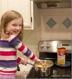 Kids broaden their horizons and learn new skills by cooking in the kitchen!