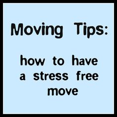 Great Moving Tips!  How to pack a box to use right away.  Include things like lysol wipes, clean sheets, paper plates.