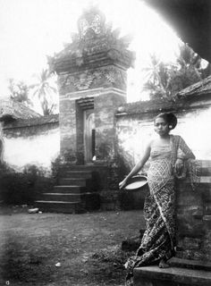 Balinese woman from a wealthy family.