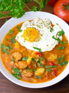 Soup Recipes, Recipies, Cooking Recipes, Kielbasa, Thai Red Curry, Food And Drink, Dinner, Ethnic Recipes, Impreza