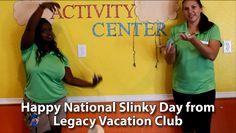 "At Legacy Vacation Club, we like to ""Slinky Around"" on National Slinky Day. #nationalslinkyday #slinky #mylegacyvaca https://youtu.be/MtCx3nysbPg"