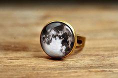 Volle Mond Ring verstellbaren Ring Anweisung Ring von SomeMagic, $10.85