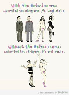 Oxford Comma  Harvard Comma