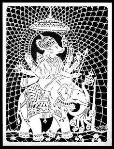 Indian artist Kirti Khatri is one of the very few people in India who practices the art of paper cutting. He works around religious themes as well as various floral designs. paper-cutting-art9.gif